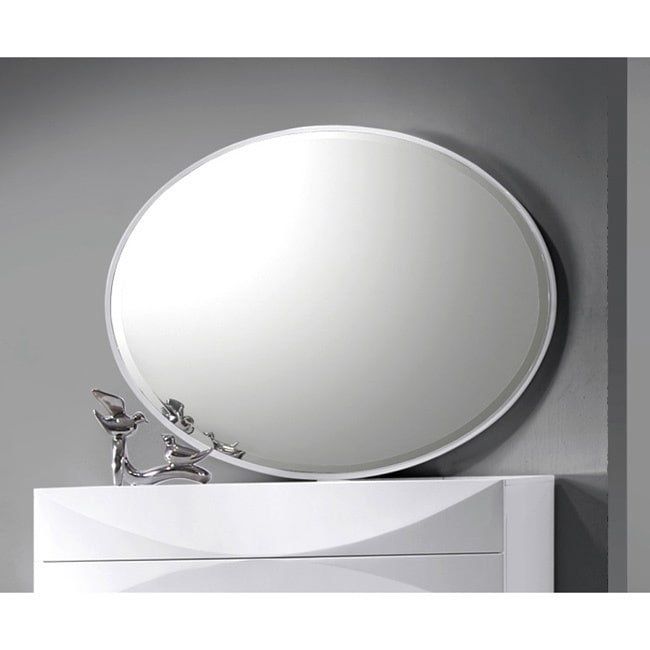 Christopher Knight Home Somette Bordeaux Gloss White Accent Mirror