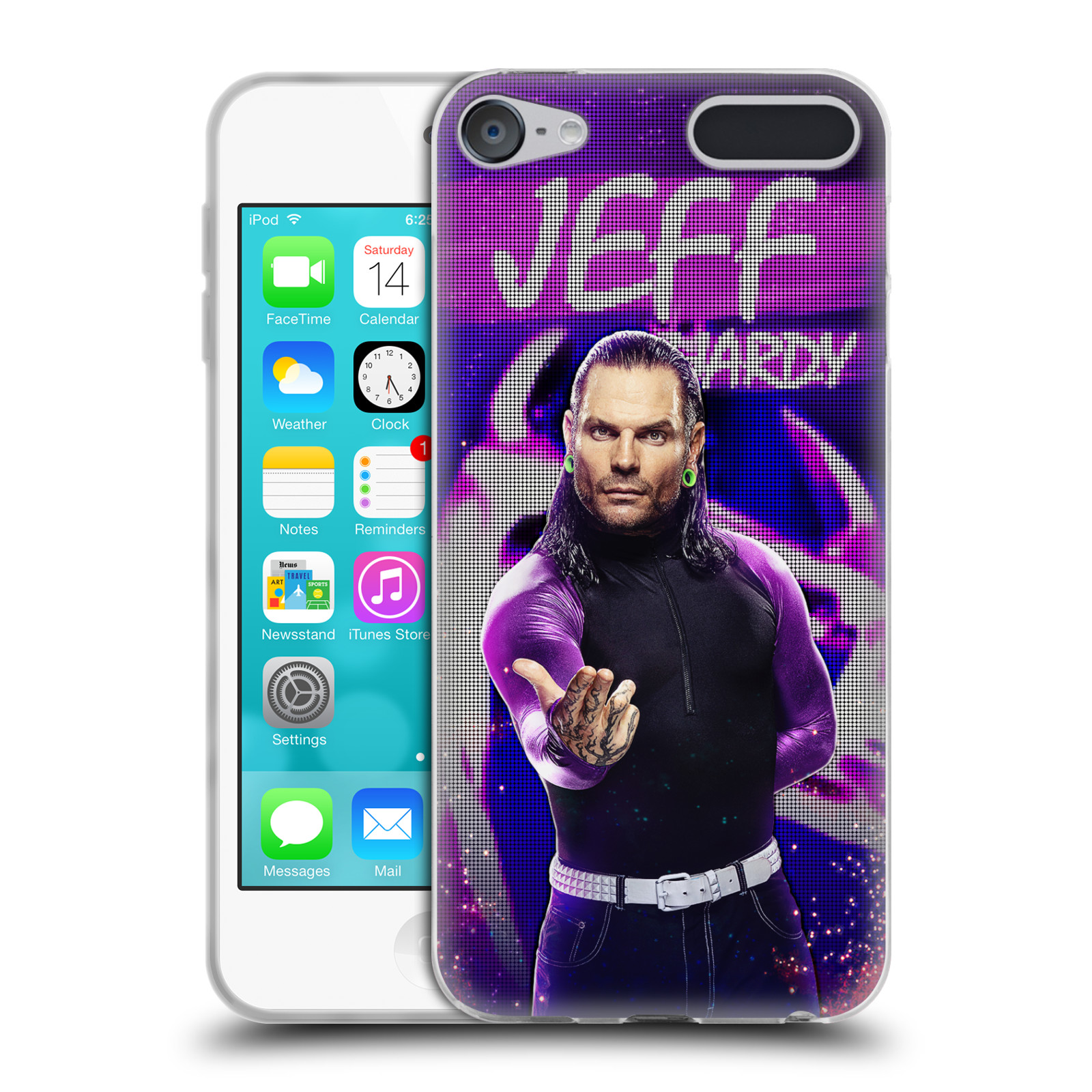 OFFICIAL WWE JEFF HARDY SOFT GEL CASE FOR APPLE IPOD TOUCH MP3