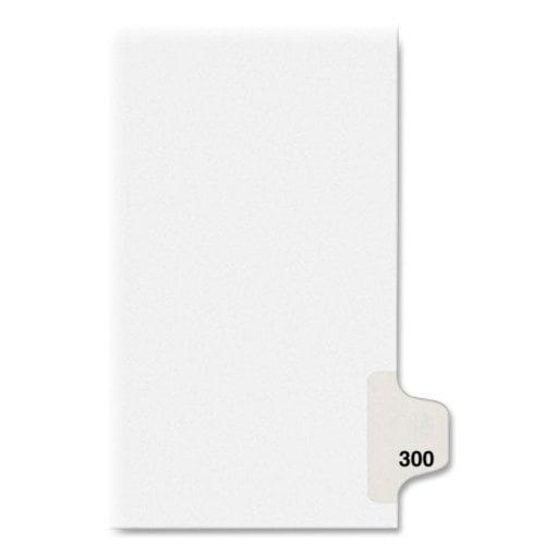 "Avery Individual Side Tab Legal Exhibit Divider - Printedexhibit 300 - 8.50"" X 11"" - 25 / Pack - White Divider (AVE82516)"