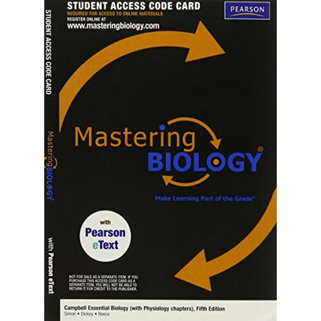 MasteringBiology with Pearson eText -- Valuepack Access Card -- for Campbell Essential Biology (with Physiology chapters) (ME component), 9780321791719, Paperback, 5th (Essential Components)