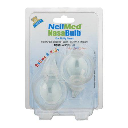 (2 Pack) NeilMed NasaBulb Nasal Aspirator, 2.0 CT