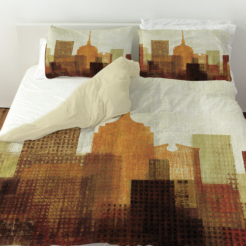 Manual Woodworkers & Weavers Summer in the City II Duvet Cover