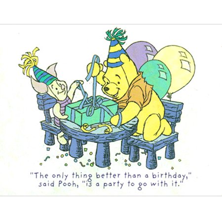 Winnie the Pooh Vintage 'Pooh and Piglet' Invitations w/ Envelopes (8ct) (Winnie The Pooh Baby Shower Invitations)