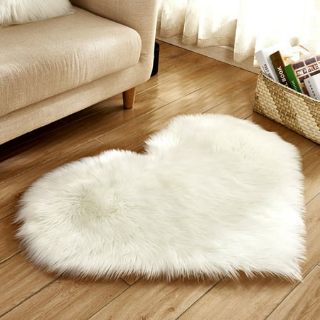 - Tuscom Wool Imitation Sheepskin Rugs Faux Fur Non Slip Bedroom Shaggy Carpet Mats