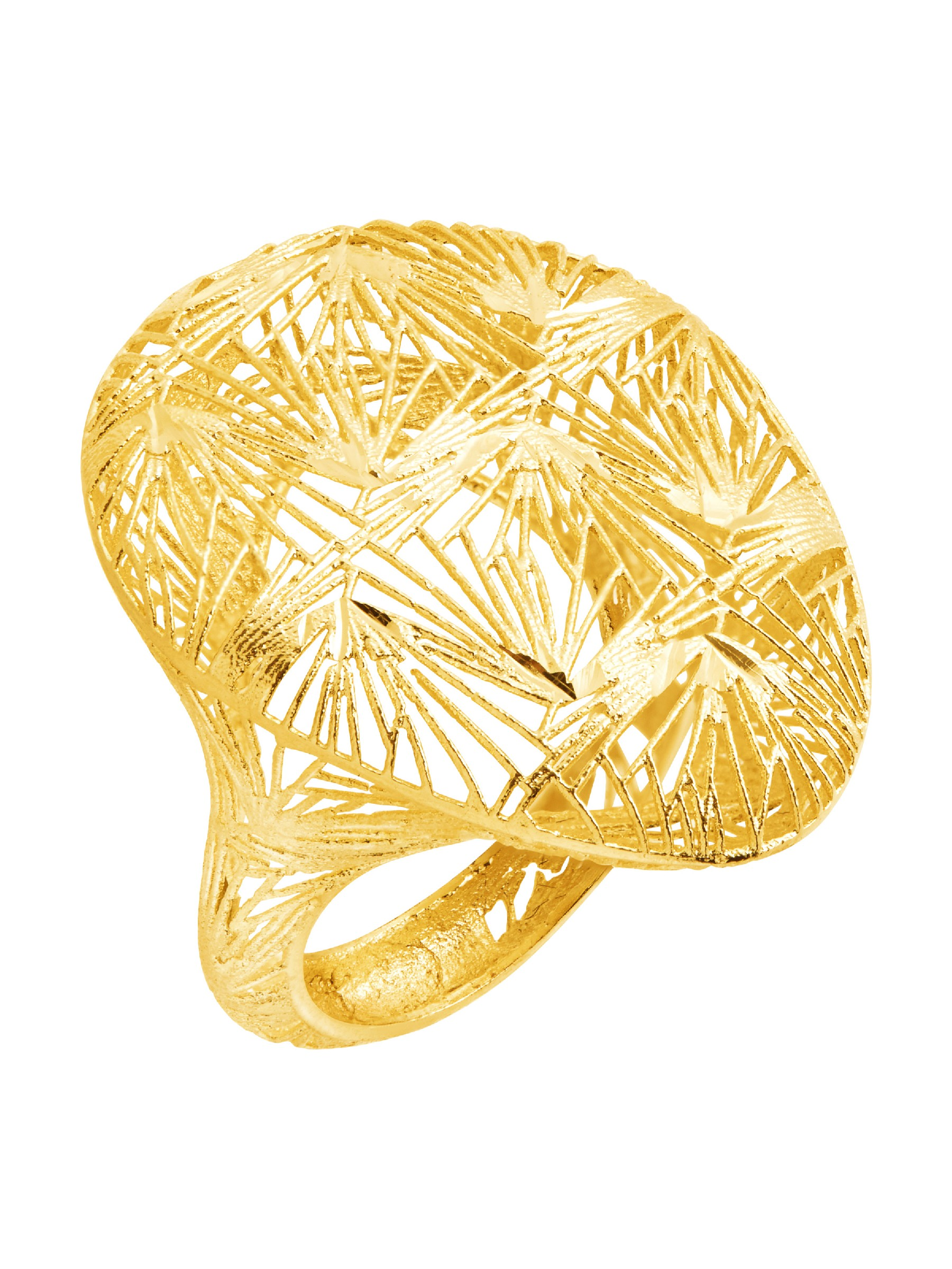 Eternity Gold Caged Wire Teardrop Ring in 14K Gold
