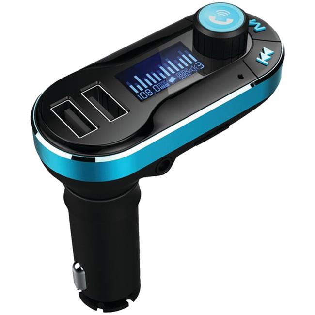 Supersonic IQ-211BT Bluetooth Wireless FM Transmitter with Remote, Black