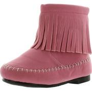 The Doll Maker Girls Fringe Ankle Fashion Boots