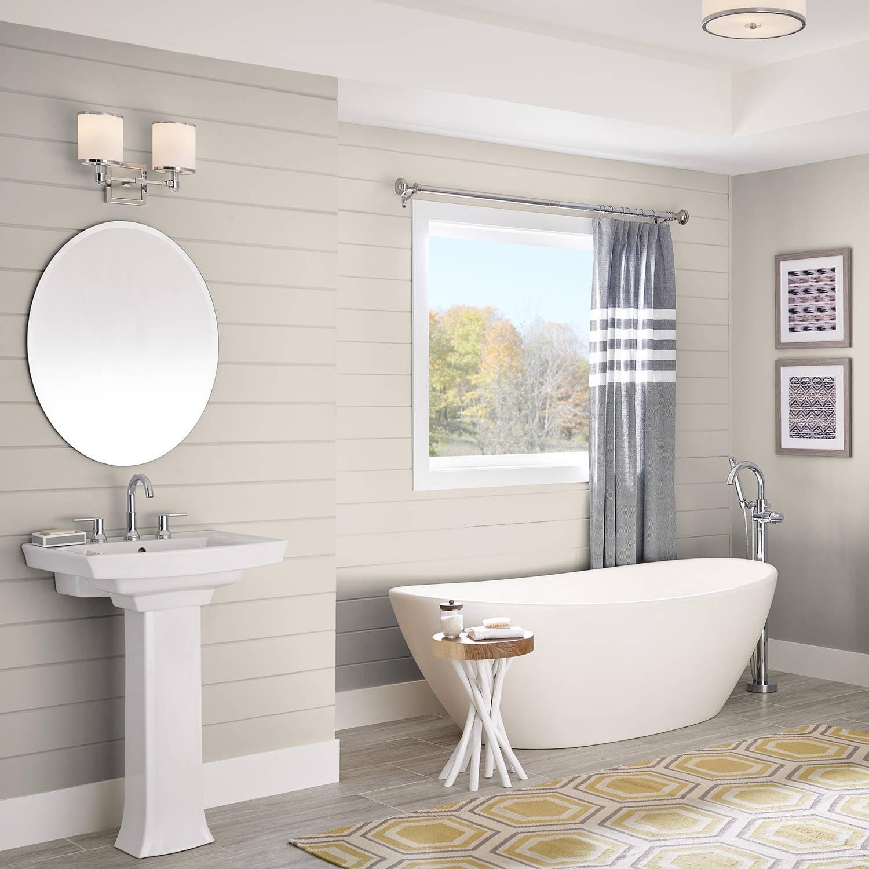 Kilz bathroom ceiling paint - Kilz Complete Coat Interior Exterior Paint Primer In One Lk210 Starched Linen 1 Gal Flat Walmart Com
