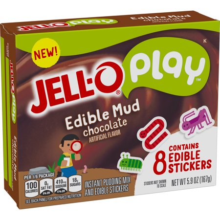 (4 Pack) Jell-O Play Edible Mud Chocolate Pudding, 5.9 oz - Halloween Jello Pudding Shots