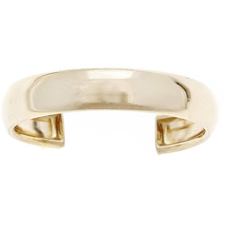 - 10kt Solid Yellow Gold High-Polished Adjustable Toe Ring