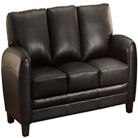 Homelegance 9734BK-3 Upholstered Sofa, Black Bonded Leather Match ()