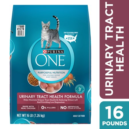 Purina One Urinary Tract Health Dry Cat Food, 16 (Best Food For Struvite Crystals In Cats)