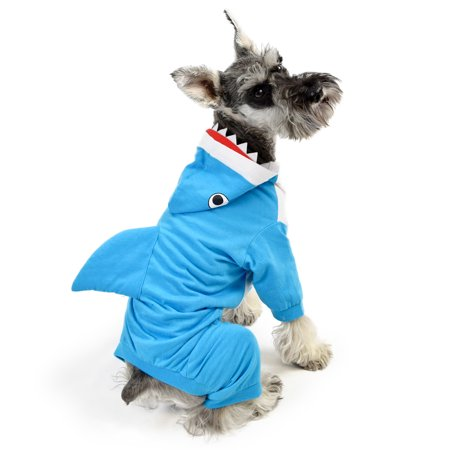 Shark Dog Pajama Size MD](Shark Costumes For Dogs)