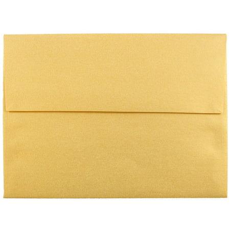 jam paper a6 invitation envelope 4 3 4 x 6 1 2 gold stardream