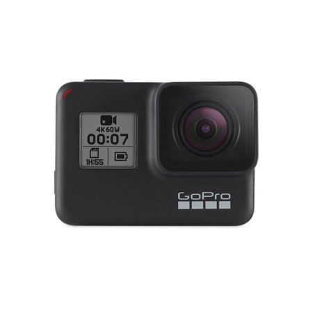 GoPro HERO7 Black — Waterproof Action Camera with Touch Screen 4K HD Video 12MP Photos Live Streaming (Newest Model)