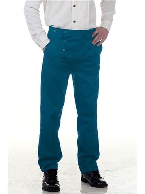 The Pirate Dressing C1403 Architect Mens Hundred Percent Cotton Pants, Blue - Medium