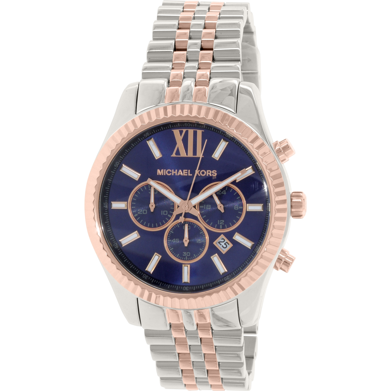 Michael Kors Men's Lexington MK8412 Silver Stainless-Steel Quartz Watch