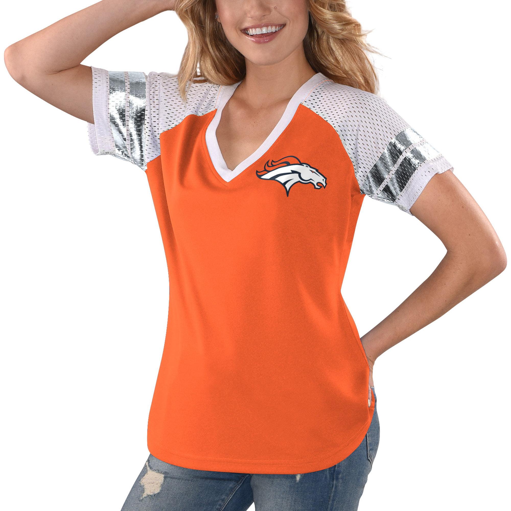 90951ddc Denver Broncos G-III 4Her by Carl Banks Women's All Star V-Neck T-Shirt -  Orange/White