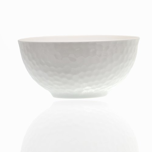 Red Vanilla Pebble Beach Bone China Dining Bowl (Set Of 4)