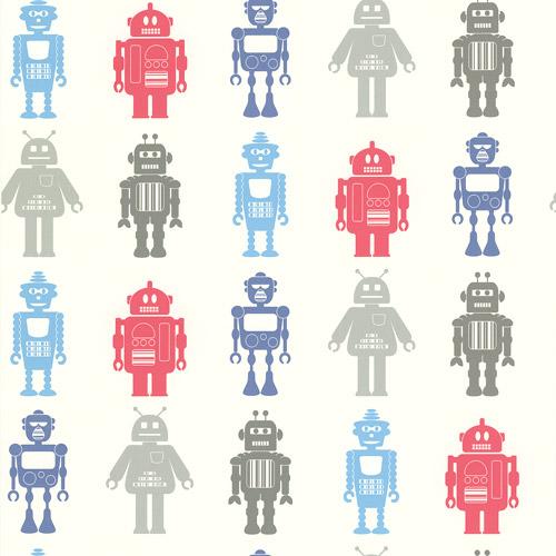 Brewster Home Fashions Robot League Wallpaper