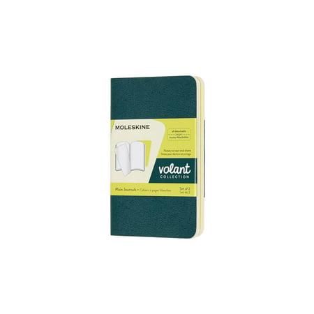 Moleskine Volant Journal, Xs, Plain, Pine Green/Lemon Yellow (2.5 X 4.25) (Other) ()