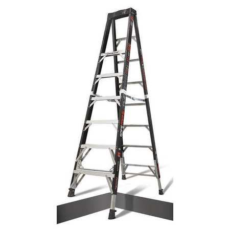 - LITTLE GIANT Stepladder,with Ratchet Legs,8 ft. H 15778-804
