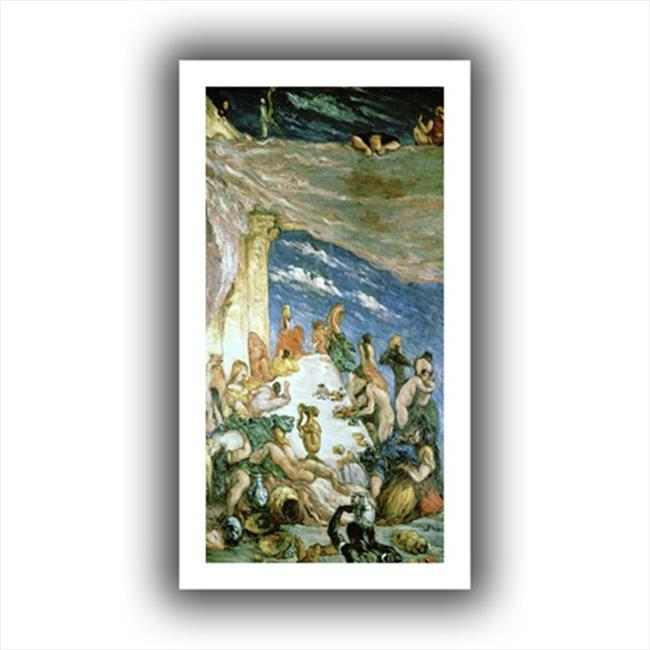 Artwal The Orgy Unwrapped Canvas Artwork by Paul Cezanne, 12 x 24 Inch by ArtWall