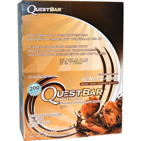 Quest Nutrition, QuestBar, Protein Bar, Double Chocolate Chunk, 12 Bars, 2.1 oz (60 g) Each(pack of