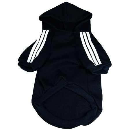 Pet Puppy Dog Cat Coat Clothes Hoodie Sweater Costumes Black L Clearance - Black Dog Costumes