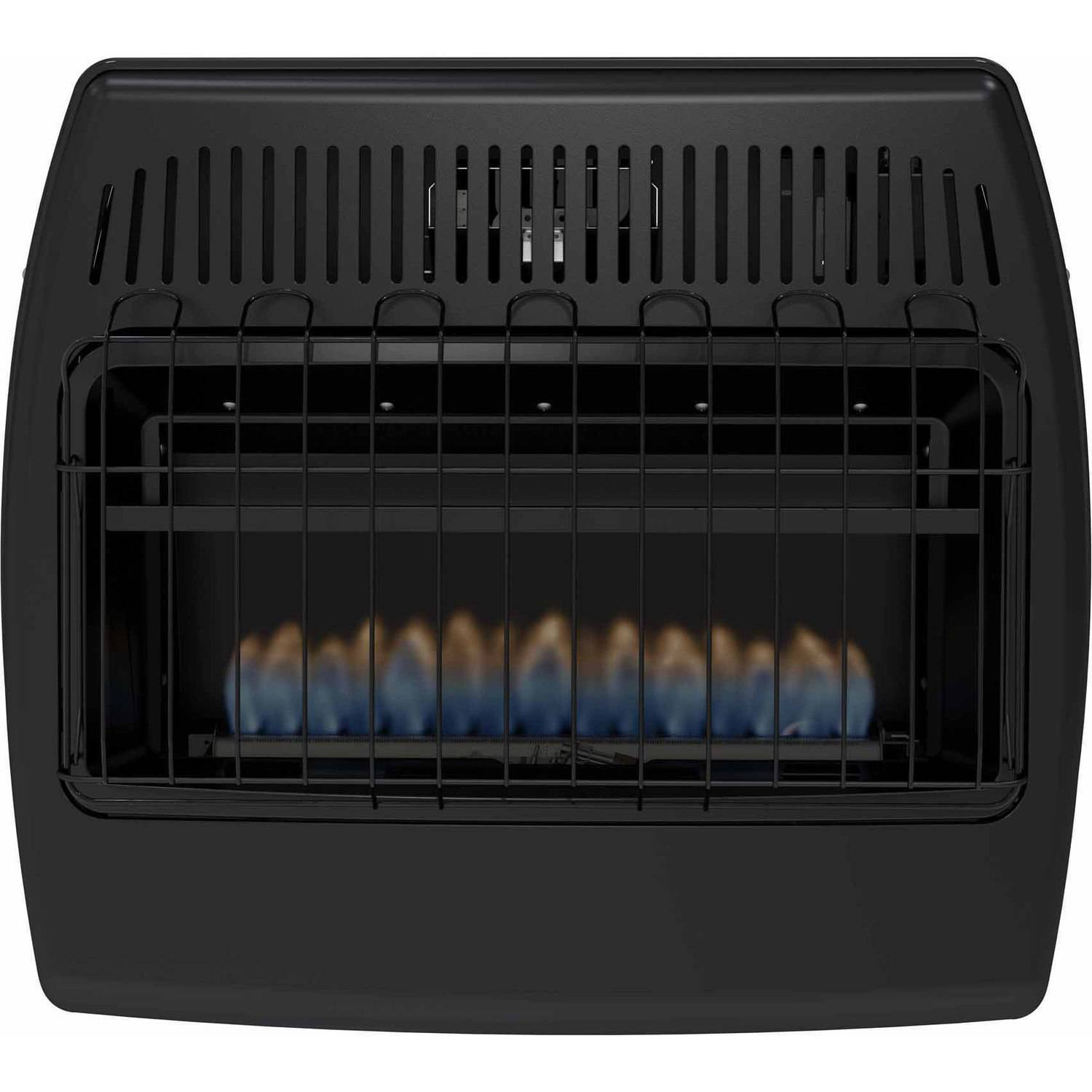 dyna glo bf30nmdg 30 000 btu blue flame natural gas vent free wall