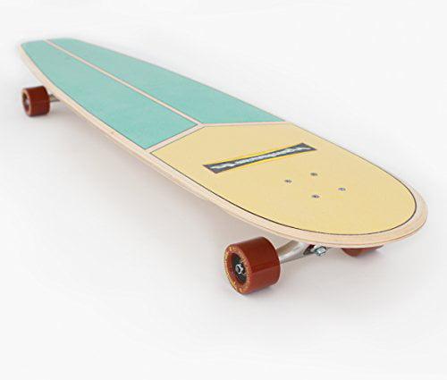 Handcrafted Longboard Skateboard for Landsurfing /& Cruising 45 Hamboards Huntington Hop Laminated Birch /& Maple