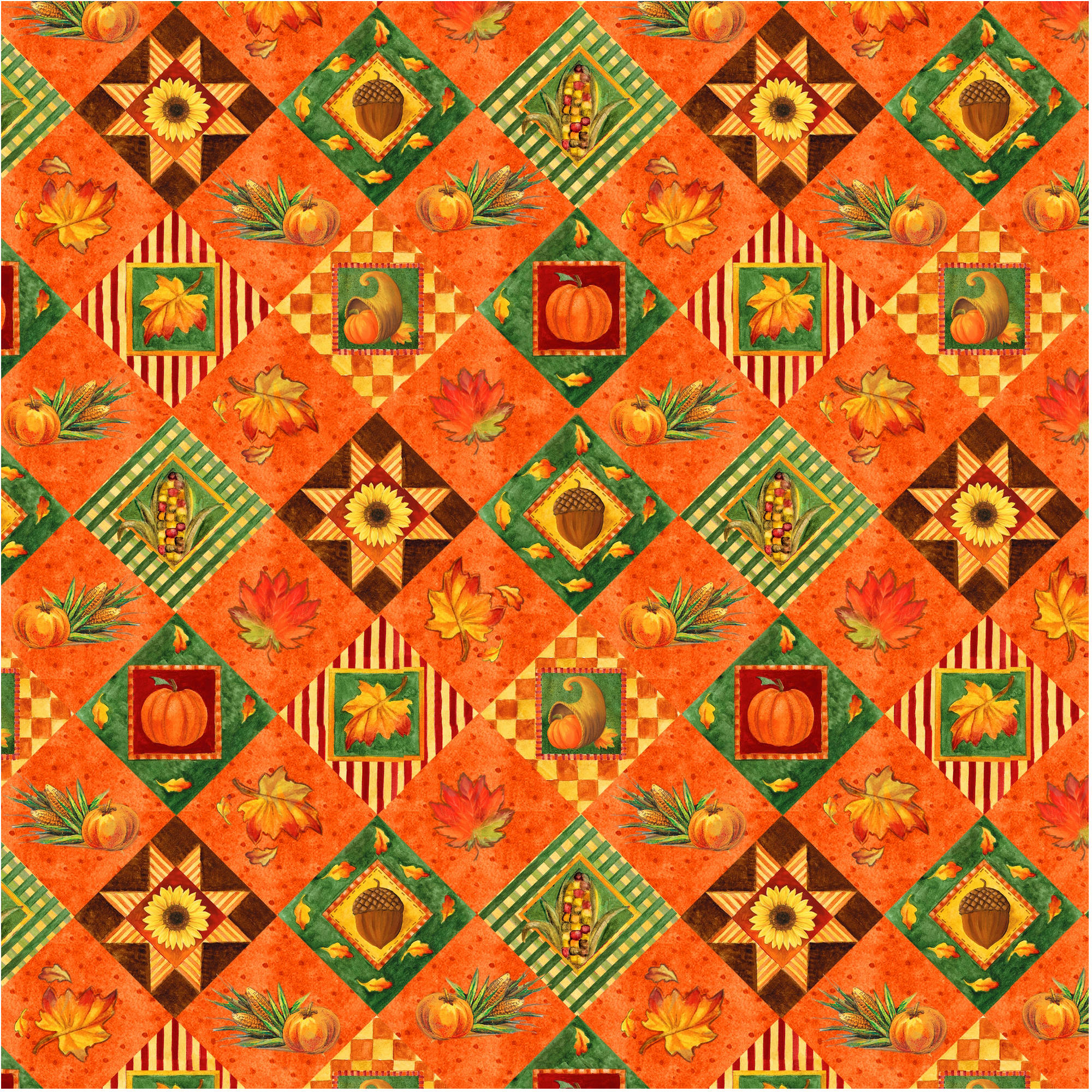 Harvest Autumn Quilt Cotton By The Yard, 44""