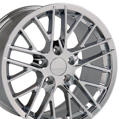17x9.5 Wheel Fits Corvette, Camaro - C6 ZR1 Style Chrome Rim, Hollander 5402