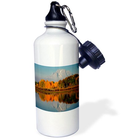 3dRose Autumn morning at the Oxbow, Grand Teton National Park, Wyoming, USA., Sports Water Bottle, (Grand Teton Mall)