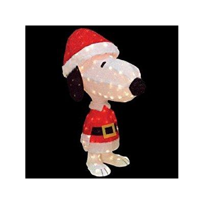 Product Works 26 pre-lit peanuts soft tinsel snoopy anima...