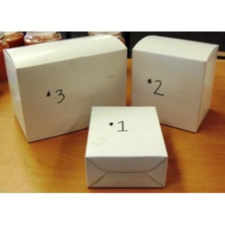 SMALL White Retail Box - 5 1/4 x 4 3/16 x 2 per each