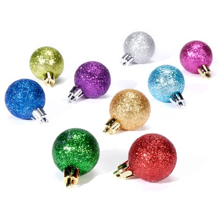 Darice Ornament Mini Christmas Glass Assorted 30 mm ()