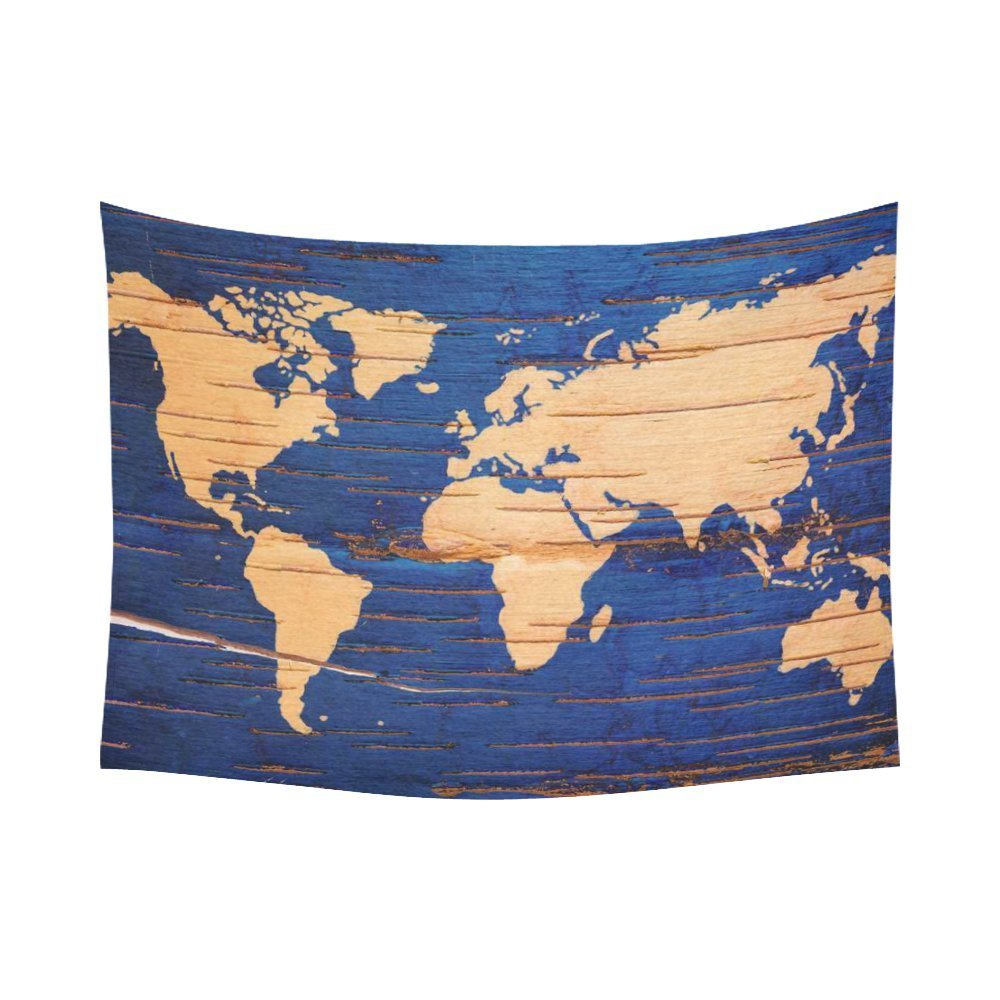 World Map Tapestry Wall Hanging gckg vintage blue wooden world map tapestry wall hanging wood