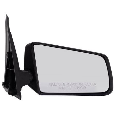 Passengers Manual Side View Mirror Standard Type Textured Replacement for Chevrolet GMC Pickup Truck SUV15675114