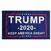 3x5 Feet Donald Trump 2020 President Flag - Vivid Color and UV Fade Resistant - Canvas Header and Brass Grommets - Keep America Great Again Banner Flags 3x5 Ft Foot