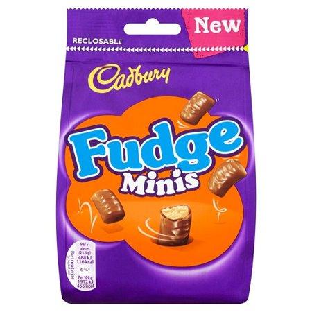 Fudge Bites - Cadbury Fudge Minis Chocolate Bag Original
