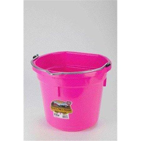 - Miller Mfg Co Inc P-Little Giant Plastic Flat Back Bucket- Pink 20 Quart