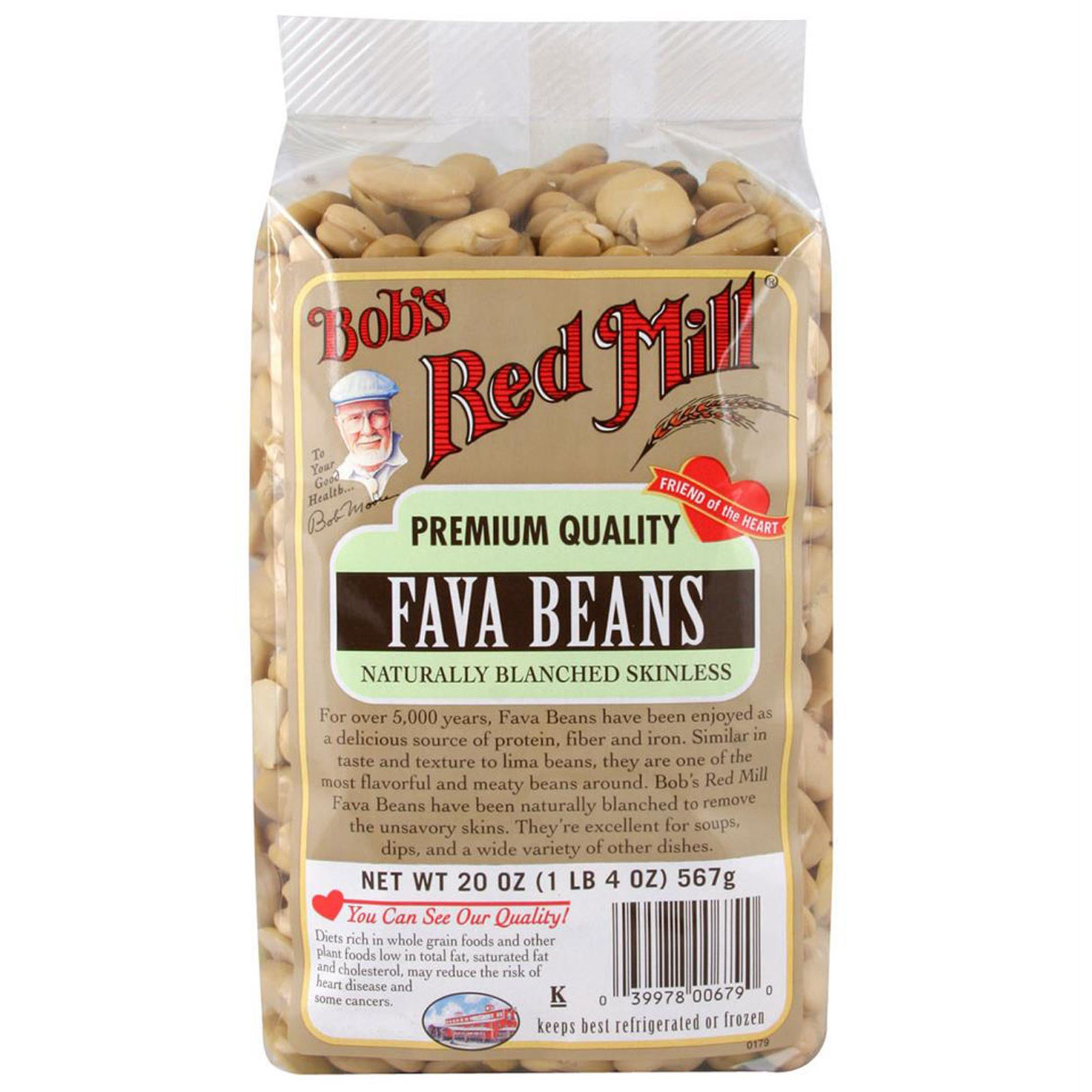 Bob's Red Mill, Fava Beans, Naturally Blanched Skinless, 20 oz (pack of 3)