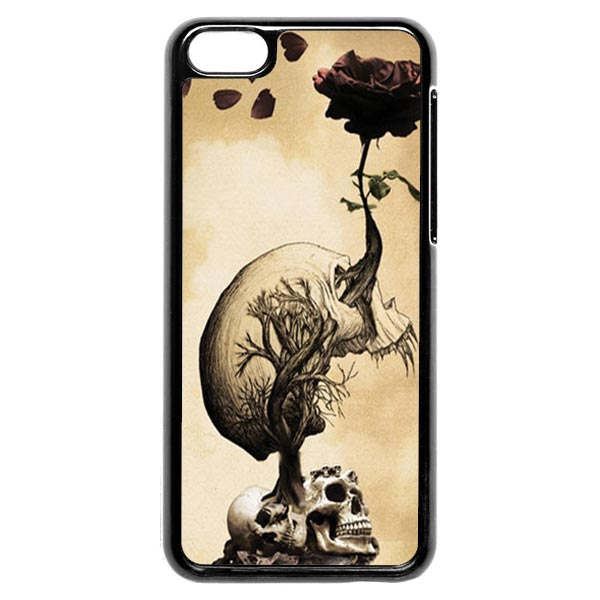 Skull Growing A Rose iPhone 5c Case