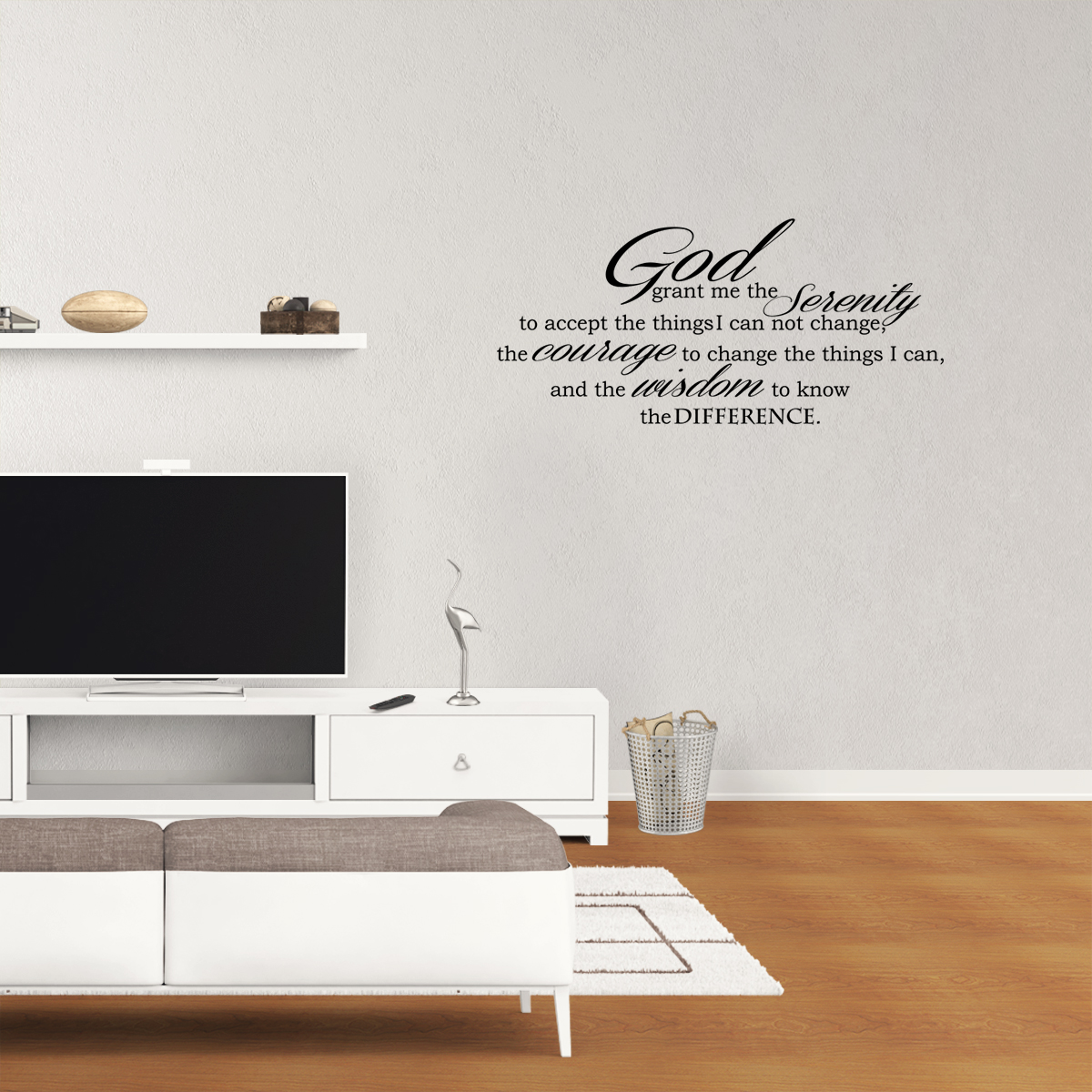 Delightful God Grant Serenity Prayer Vinyl Wall Decal Quotes Wall Stickers Religious Decals  Home Decor Decals JR34   Walmart.com