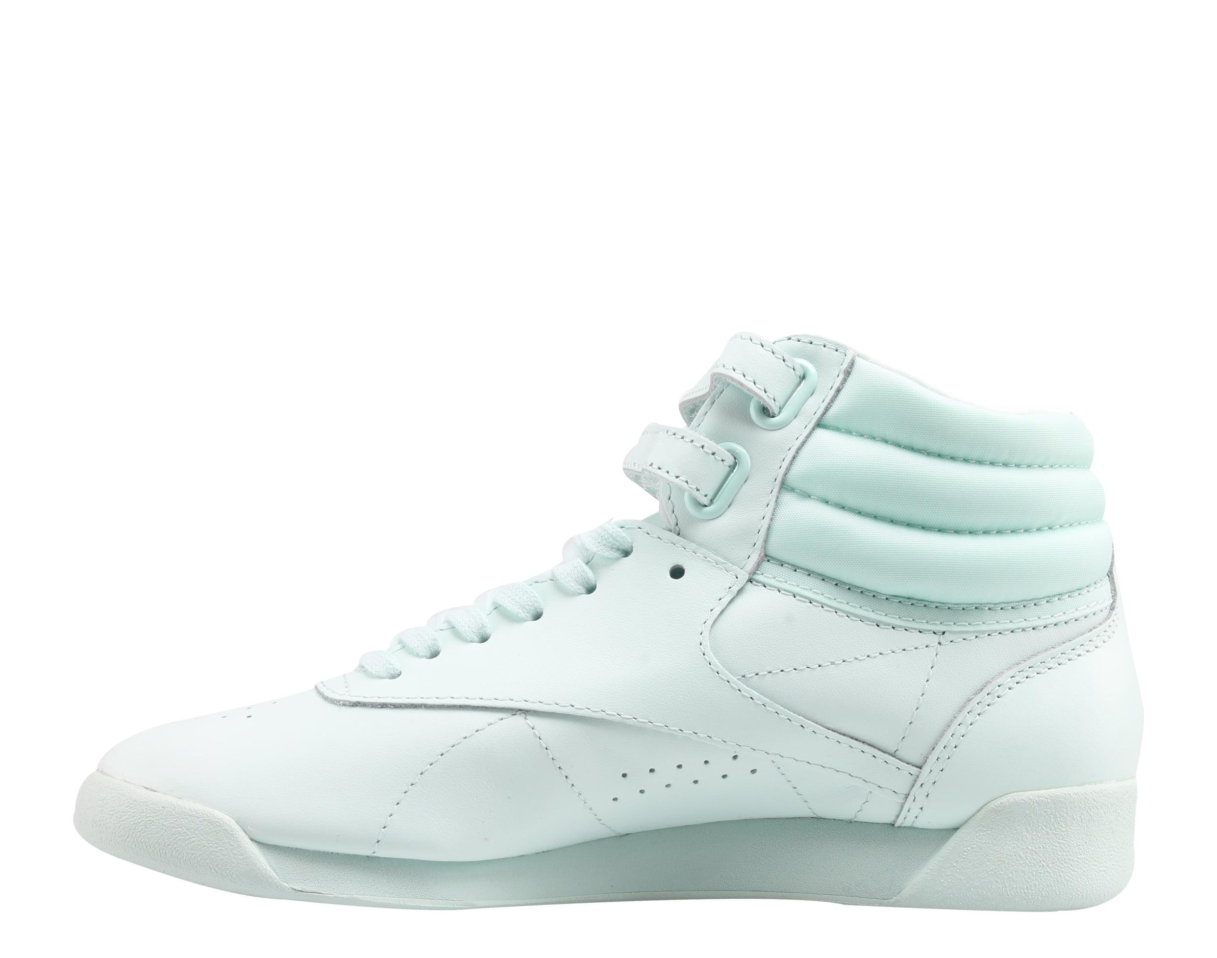 Reebok Classic Freestyle Hi Color Bomb Mist/White Womens Shoes BS7863