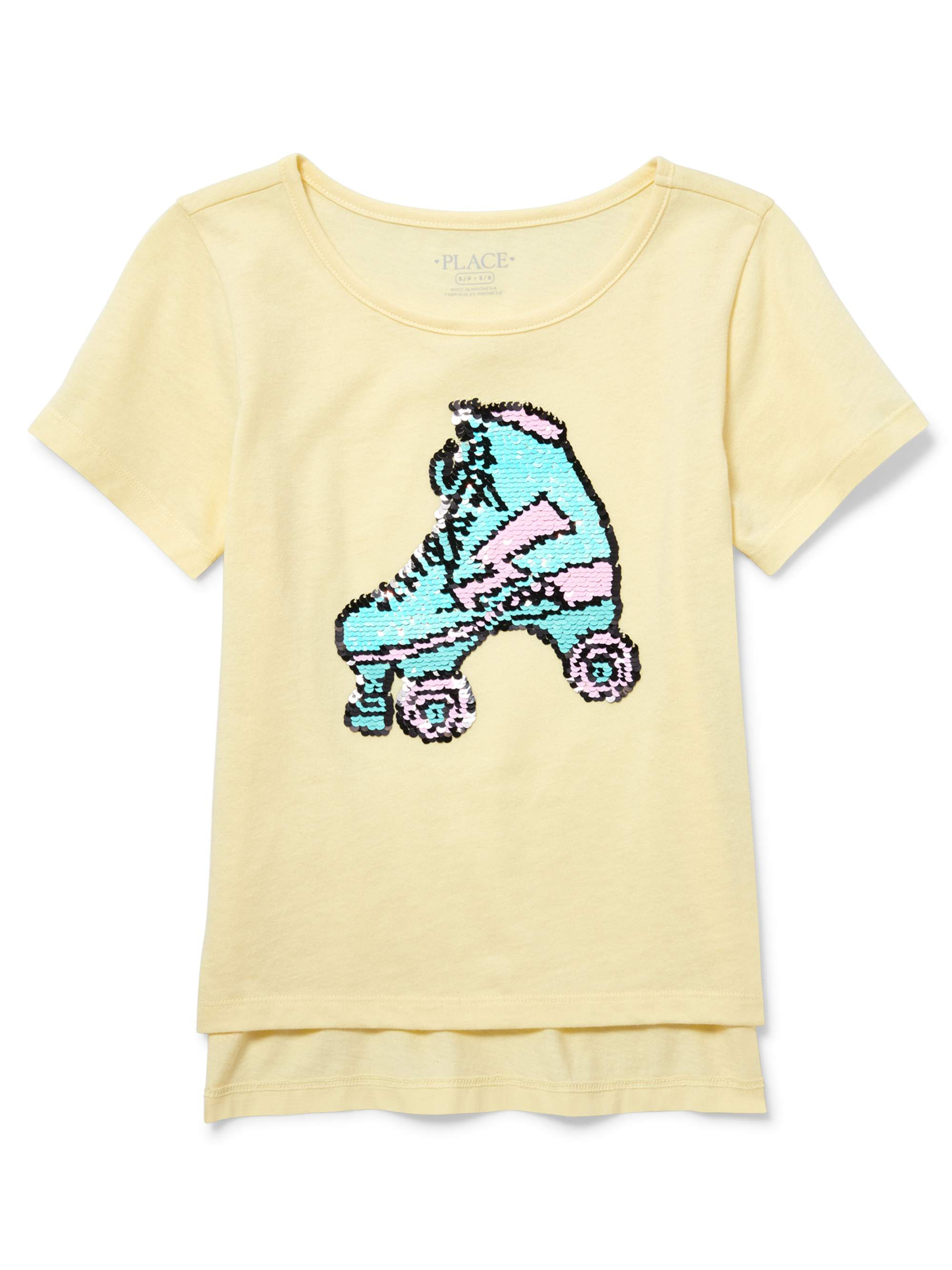 Reversbile Flip Sequin Hi-Lo Tee (Little Girls & Big Girls)