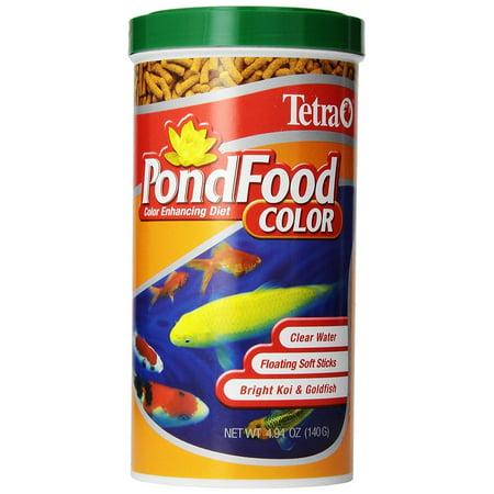 Tetra TetraPond Color Enhancing Diet Pond Koi & Goldfish Fish Food, 4.94-oz