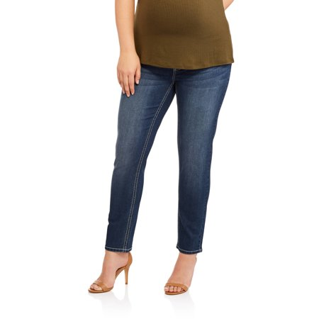 69d0cea164289 Maternity Full Panel Skinny Jean Bling Back Pocket - available in Plus Sizes