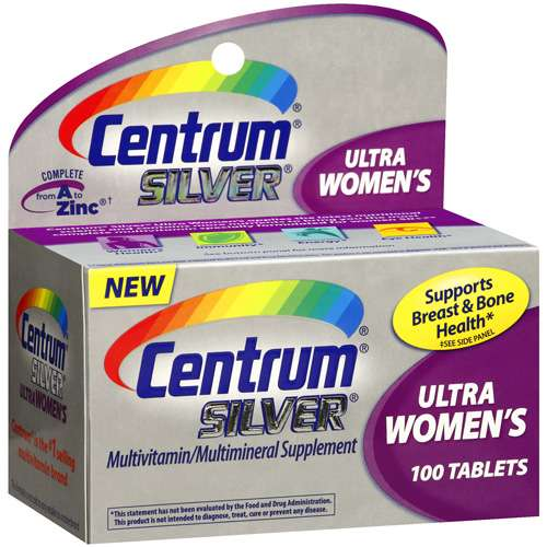 Centrum Silver Multivitamin / Multimineral Supplement Ultra Women's, 100 ct